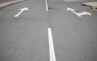 Arrows on asphalt photo
