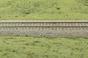 Track model train photo
