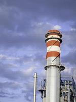 Factory chimney stacks photo