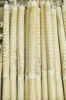 flautas de madera hechas a mano foto