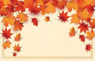 Autumn Season with Light Background vector