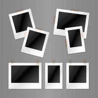 Portrait and Landscape Polaroid Layout Template vector
