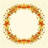 Beautiful Fall Leaves Border Concept vector