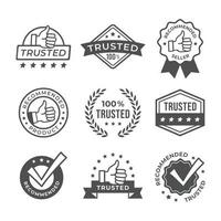 Recommended Trusted Vintage Stickers vector