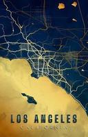 diseño de fondo del mapa de los angeles california vector