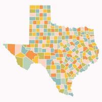 mapa de la región del estado de texas vector