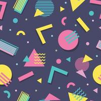Seamless Pattern 90s With Geometric Shape vector