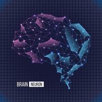 Brain Neuron Polygon Concept vector
