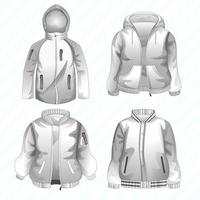 Cool Jacket Template vector