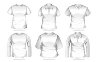 plantilla de camisa de ropa vector