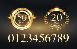 Elegant Golden Anniversary Template vector