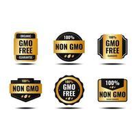 Glossy Non Gmo Badge vector