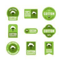 Versatile Flat Cotton Label vector
