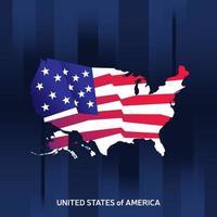 mapa de estados unidos con bandera vector