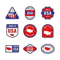 Made in USA Badge Collection vector