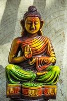 Close-up of Colorful Statue of Buddha photo
