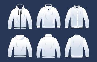 plantilla de chaqueta en blanco vector