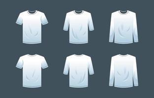 Plantilla delantera y trasera de ropa en blanco vector