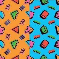 Colorful Random 90's Pattern Background vector