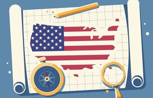 USA Map Background vector