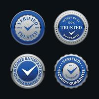 Trust verified badge collection vector