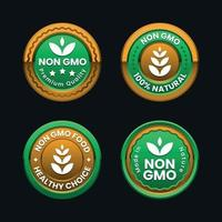 Non GMO badge collection vector