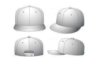 Hat Mockup Concept vector