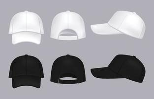 Realistic Hat Template vector