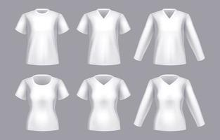 White Clothing Template in Realistic Style vector