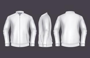 plantilla de chaqueta realista vector