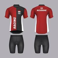 Bike Jersey Template in Realistic Style vector