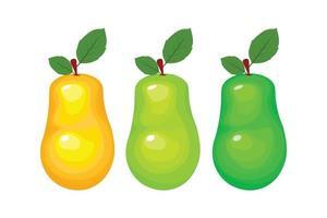 vector de fruta colorida