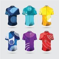 concepto de ropa deportiva de jersey ciclista abstracto vector