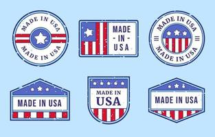 Made in USA badge collections vector