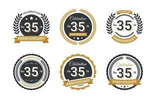 anniversary badge design vector