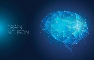 brain neuron background vector