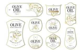 Olive Tree badges collection vector