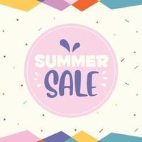 Concept Design For Summer Sale vector