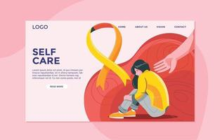 Landing Page on the Theme of World Suicide Prevention Day Concept vector
