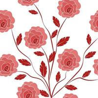Flat florals or flowers seamless pattern vector