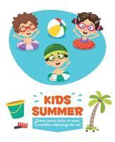 Concept Drawing For Summer Season vector