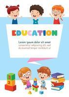 concepto de educación con niños vector