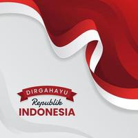 Indonesia Independence Background vector