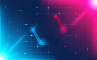 Futuristic hexagon HUD abstracts.Future theme concept background.vector and illustration vector
