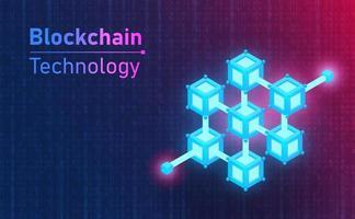 Futuristic Blockchain technology connection icon. Future concept.vector and illustration vector