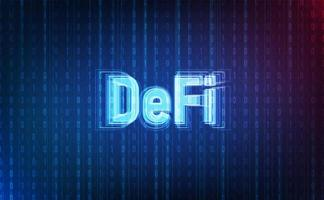 Defi crypto currency on system background.Futuristic concept.vector and illsutration vector