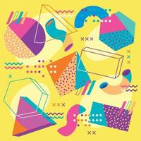 Abstract Memphis 90s Pattern vector