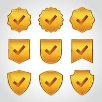 Verified badge with check mark collections vector