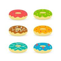 Food Label bakery illustration. Dessert set isolated vector