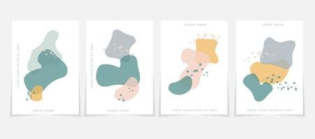 pastel colors poster template in contemporary aesthetic style vector